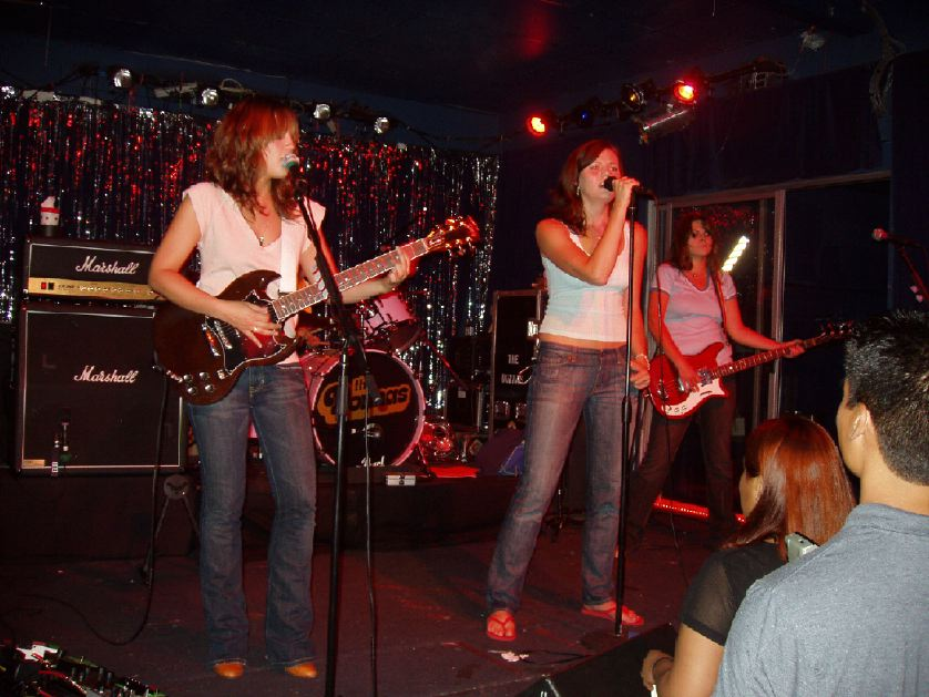 The Donnas at The Echo, Echo Park on August 19, 2004